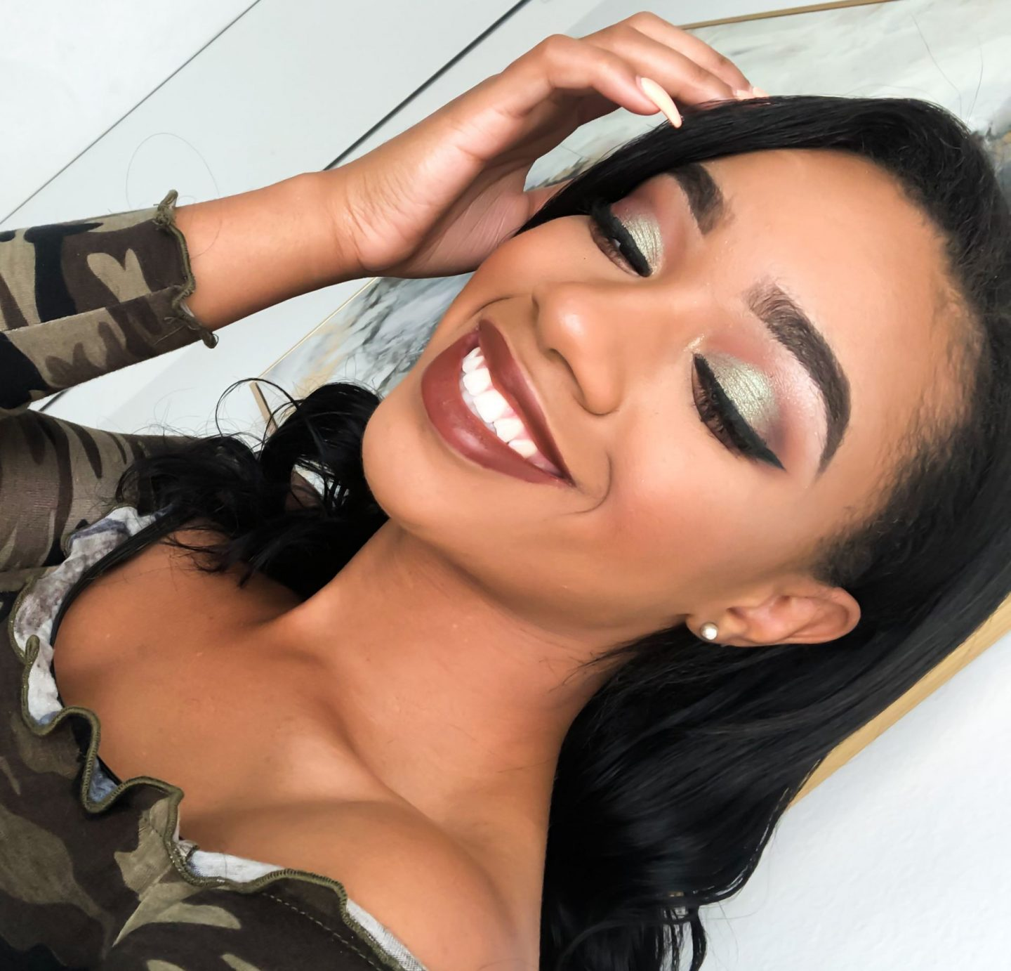 Easy Olive Green Fall Makeup Tutorial